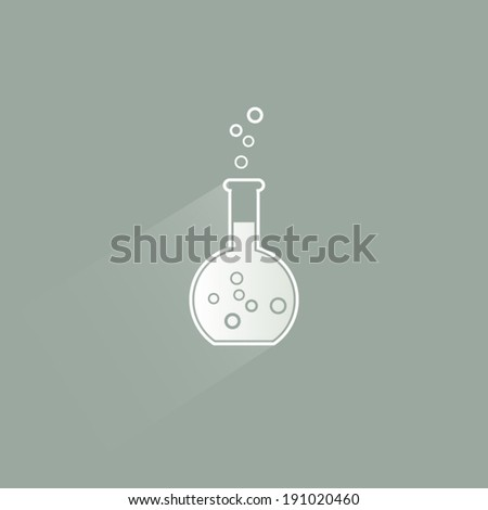 Flat design test tube for chemical experiments modern poster background - stock vector
