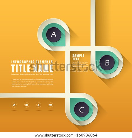 flat design vector abstract infographic elements design - stock vector