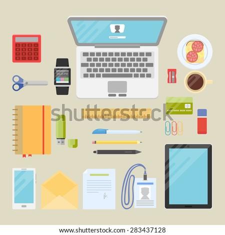 Creative Organization flat design vector illustration concept creative stock vector