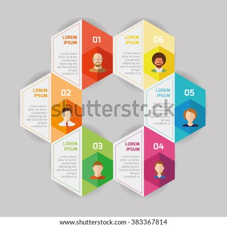 Flat design vector illustration infographic and icons. Network technology. - stock vector