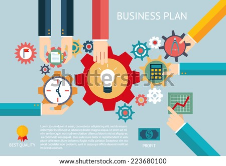 Flat design vector illustration infographic concept with icons set of gamification strategy in business, new trend in social media marketing and industry innovation. Isolated on stylish background. - stock vector