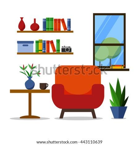 Flat Design Vector Illustration Modern Home Stock Photo (Photo ...