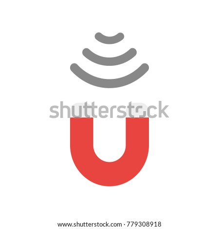 Vector Illustration Businessman Character Holding Magnet Stock ...