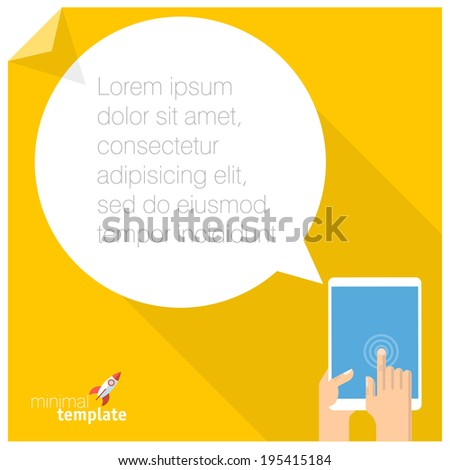 Flat design web communication vector concept. - stock vector