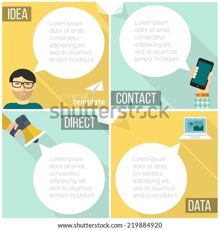 Flat design web communication vector concept. - stock vector