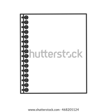 flat design wired notebook icon vector illustration