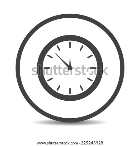 Flat designed round clock icon. Business concept. Idea. Logic - stock vector