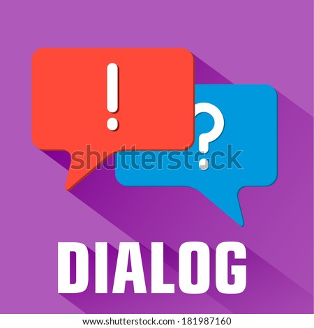 flat dialog background concept. Vector illustration - stock vector