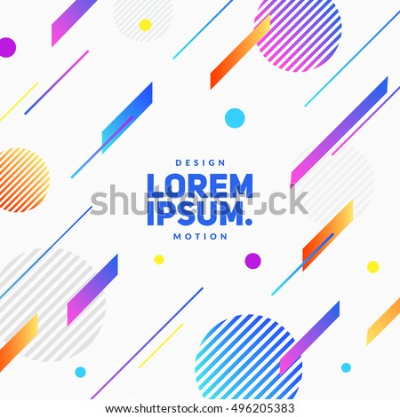 Flat dynamic background design. Colorful geometric on white background. Eps10 vector illustration.
