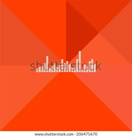 flat equalizer on the orange mosaic - stock vector