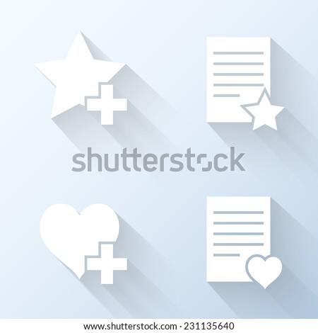 Flat favorites icons. Vector illustration - stock vector