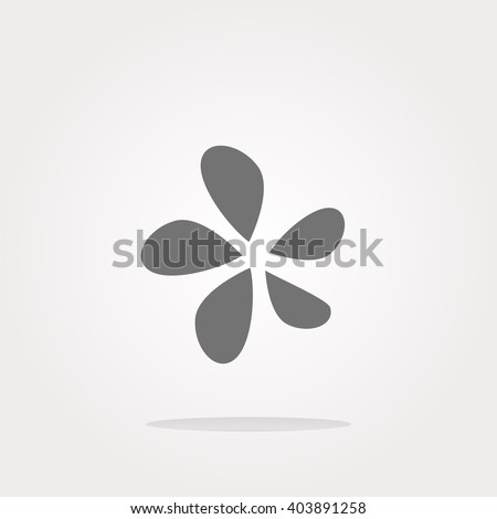 flat flower Icon Vector