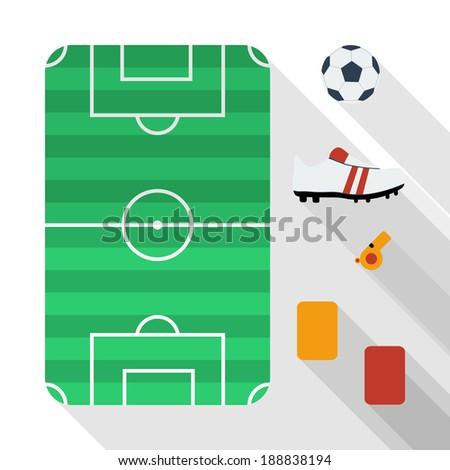 Flat football icons design - stock vector