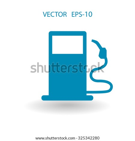 Flat fuel icon. Vector - stock vector
