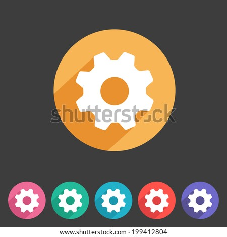 Flat game graphics icon settings - stock vector