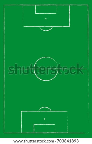 Flat Green Field Football Grass Soccer Stock Vector 703841893 ...