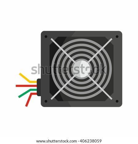 Flat Hardware Power Supply Icon Repair Stock Vector 406238059 ...