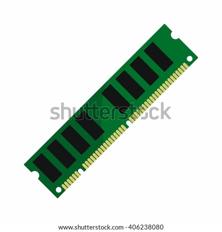 Flat hardware ram icon for repair service design. Vector illustration