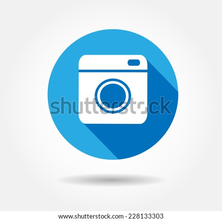 Flat Hipster camera photo Vector button illustration EPS 10,jpg,jpeg instagram,logo,background social network blue instagra icon.Media symbol