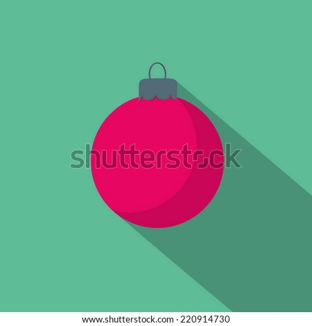 flat icon Christmas ball