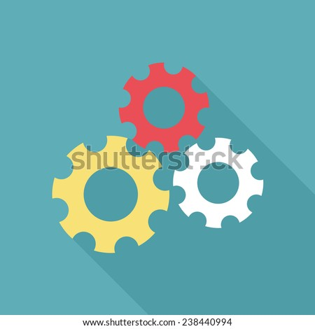 Flat icon design. Teamwork, strategy and innovation concept - stock vector