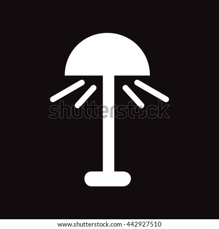 flat icon in black and white  style lamp  - stock vector