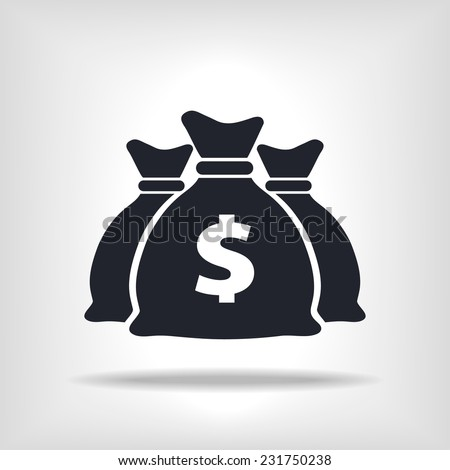 flat icon money bags, for business,commerce and finance - stock vector