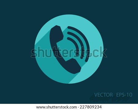 Flat icon of a phone - stock vector