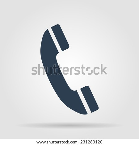 Flat icon of a phone. Vector illustrator - stock vector