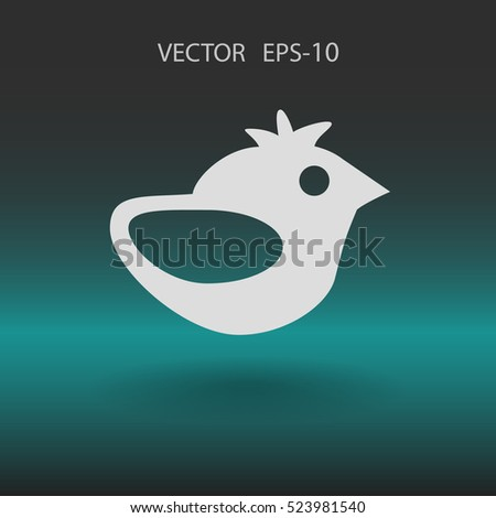 Flat icon of bird. vector illustration