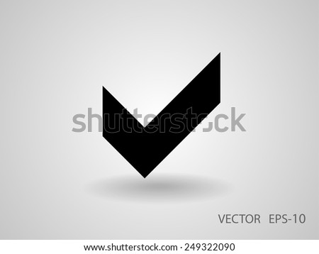 Flat icon of check box - stock vector