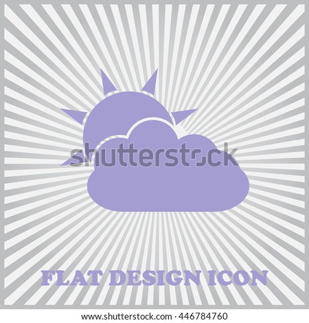 Flat icon of cloud