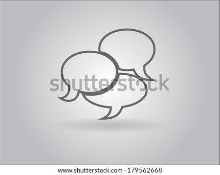 Flat  icon of  communication bubbles