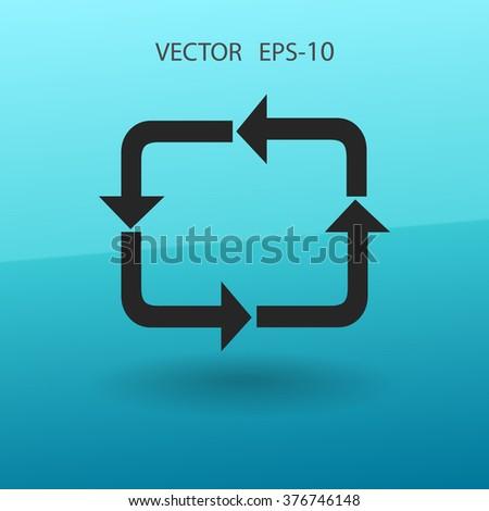 Flat icon of cyclic - stock vector