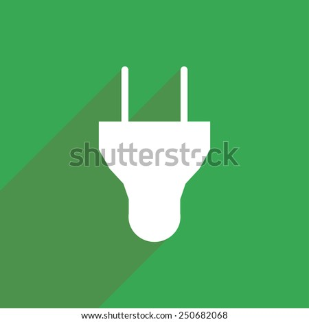 Flat Icon of electrical plug - stock vector