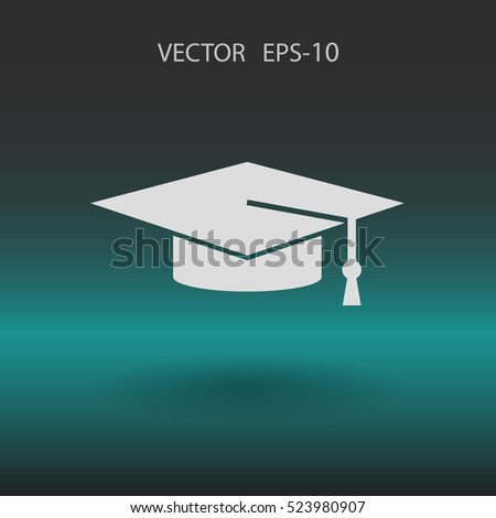 Flat  icon of graduate. vector illustration