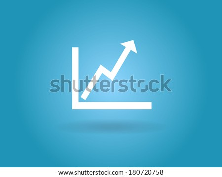 Flat icon of graph - stock vector