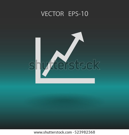 Flat icon of graph. vector illustration