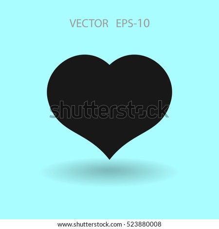 Flat icon of heart. vector illustration