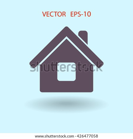 Flat icon of home - stock vector
