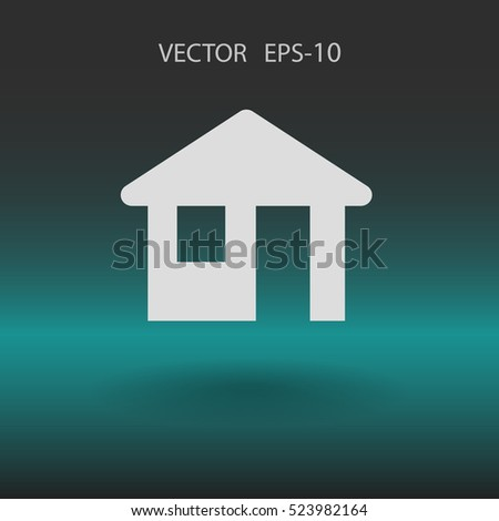 Flat icon of home. vector illustration