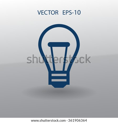 Flat icon of idea - stock vector