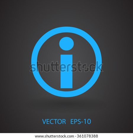 Flat icon of info - stock vector