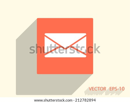 Flat icon of letter - stock vector
