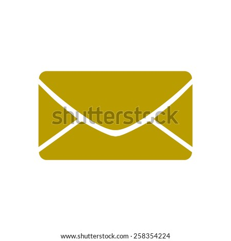 Flat  icon of letter. Mail icon.  - stock vector