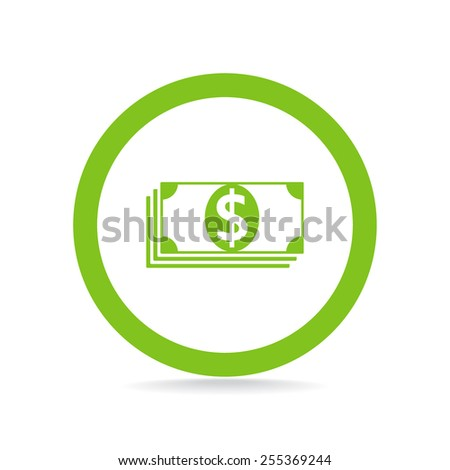 Flat icon of money vector icon - stock vector