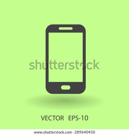 Flat icon of smartphone - stock vector