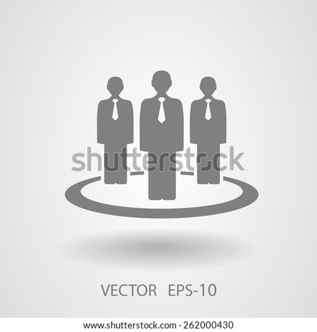 Flat icon of team work - stock vector