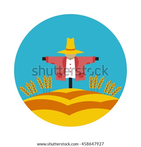 flat icon Scarecrow in vector format eps10
