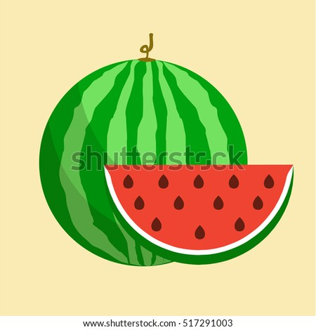 flat icon watermelon slice watermelon vector stock vector hd rh shutterstock com watermelon vector background watermelon vector art
